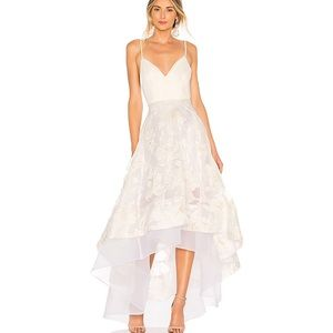 Bronx and Banco Floral Alexia Gown in White